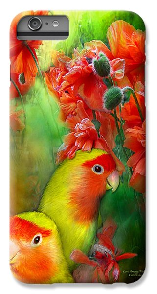 Love Among The Poppies IPhone 6 Plus Case by Carol Cavalaris