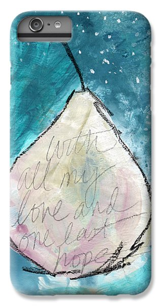 Pear iPhone 6 Plus Case - Love And Hope Pear- Art By Linda Woods by Linda Woods