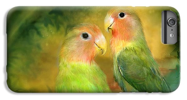 Love In The Golden Mist IPhone 6 Plus Case by Carol Cavalaris