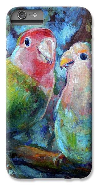 Parakeet iPhone 6 Plus Case - Lovebirds by Tom Dauria