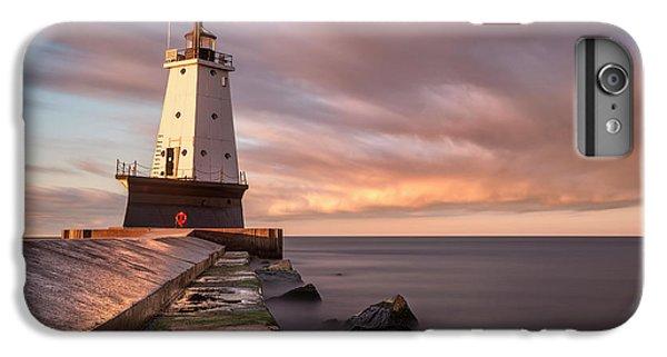 Marquette iPhone 6 Plus Case - Ludington Light Sunrise Long Exposure by Adam Romanowicz