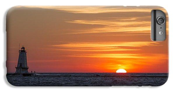 Marquette iPhone 6 Plus Case - Ludington North Breakwater Light At Sunset by Adam Romanowicz