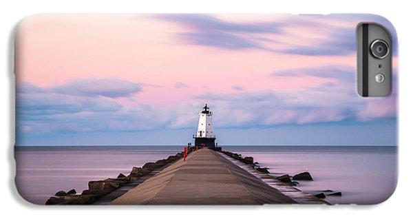 Marquette iPhone 6 Plus Case - Ludington North Breakwater Light Sunrise by Adam Romanowicz
