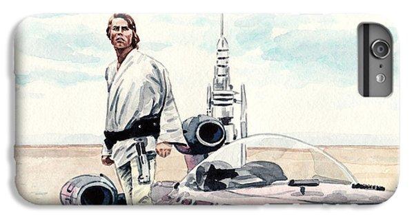 Han Solo iPhone 6 Plus Case - Luke Skywalker On Tatooine Star Wars A New Hope by Laura Row