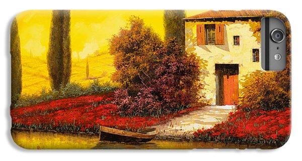 Rural Scenes iPhone 6 Plus Case - Lungo Il Fiume Tra I Papaveri by Guido Borelli