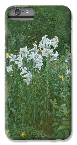 Madonna Lilies In A Garden IPhone 6 Plus Case by Walter Crane