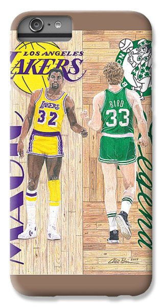 Magic Johnson And Larry Bird IPhone 6 Plus Case by Chris Brown