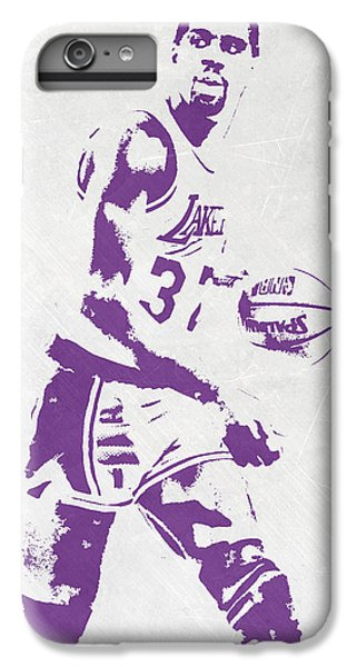Magic Johnson Los Angeles Lakers Pixel Art IPhone 6 Plus Case by Joe Hamilton