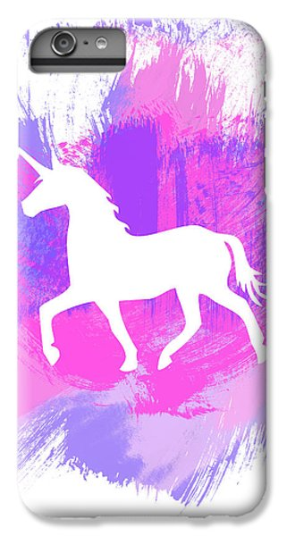 Unicorn iPhone 6 Plus Case - Magic Unicorn 1- Art By Linda Woods by Linda Woods