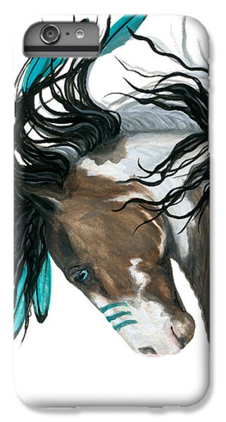 Horse iPhone 6 Plus Case - Majestic Turquoise Horse by AmyLyn Bihrle
