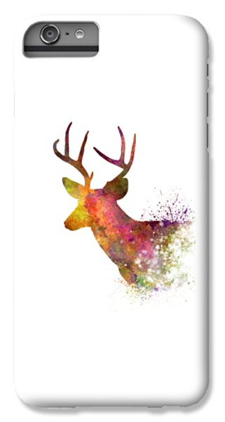 Male Deer 02 In Watercolor IPhone 6 Plus Case by Pablo Romero