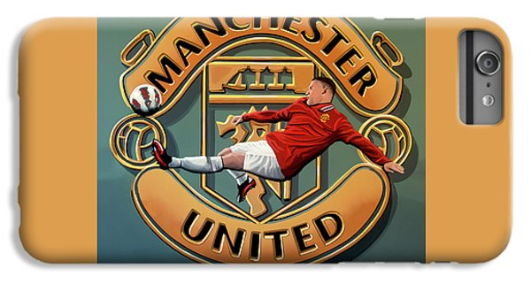Wayne Rooney iPhone 6 Plus Case - Manchester United Painting by Paul Meijering