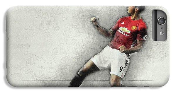 Wayne Rooney iPhone 6 Plus Case - Manchester United's Zlatan Ibrahimovic Celebrates by Don Kuing