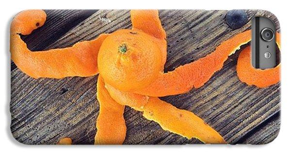 Orange iPhone 6 Plus Case - Mandarina Con Tentáculos by Juan Silva