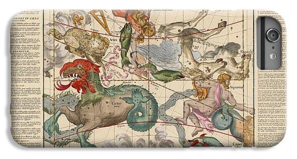 Pegasus iPhone 6 Plus Case - Map Of The Constellations Cetus, Pegasus, Aquarius, Andromeda - Celestial Map - Antique Map by Studio Grafiikka