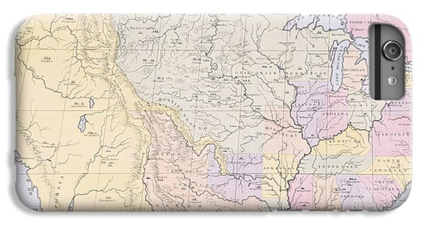 Map Showing The Localities Of The Indian Tribes Of The Us In 1833 IPhone 6 Plus Case by Thomas L McKenney and James Hall