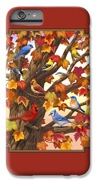 Chickadee iPhone 6 Plus Case - Maple Tree Marvel - Bird Painting by Crista Forest