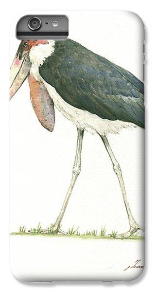 Stork iPhone 6 Plus Case - Marabou by Juan Bosco