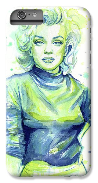 Marilyn Monroe IPhone 6 Plus Case by Olga Shvartsur