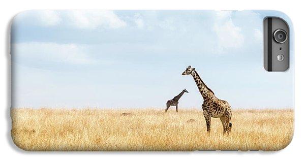 Africa iPhone 6 Plus Case - Masai Giraffe In Kenya Plains by Susan Schmitz