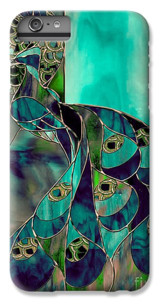 Mating Season Stained Glass Peacock IPhone 6 Plus Case