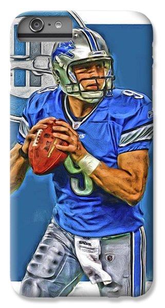 Lion iPhone 6 Plus Case - Matthew Stafford Detroit Lions Oil Art by Joe Hamilton