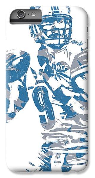 Lion iPhone 6 Plus Case - Matthew Stafford Detroit Lions Pixel Art 21 by Joe Hamilton