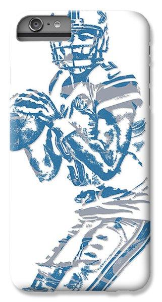Lion iPhone 6 Plus Case - Matthew Stafford Detroit Lions Pixel Art 6 by Joe Hamilton