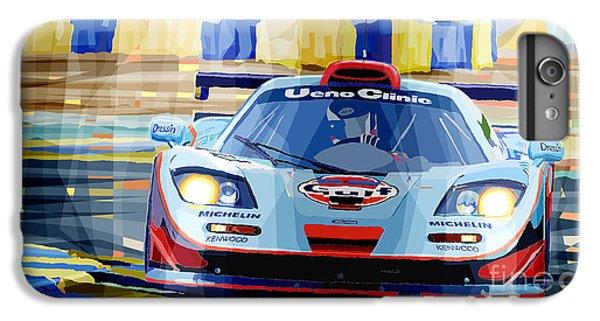Car iPhone 6 Plus Case - Mclaren Bmw F1 Gtr Gulf Team Davidoff Le Mans 1997 by Yuriy Shevchuk