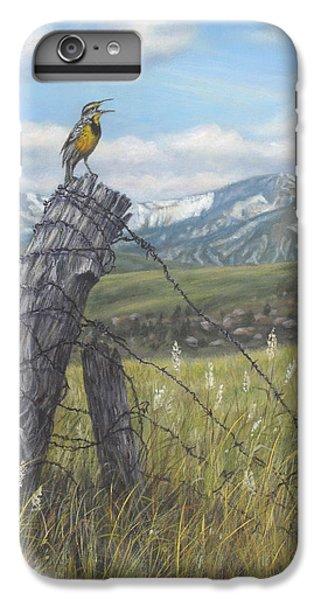 Meadowlark Serenade IPhone 6 Plus Case by Kim Lockman