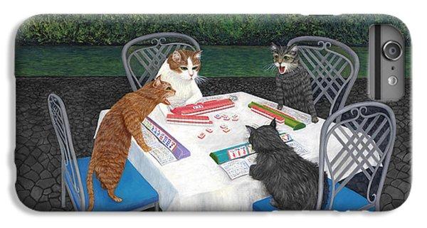 Dragon iPhone 6 Plus Case - Meowjongg - Cats Playing Mahjongg by Karen Zuk Rosenblatt