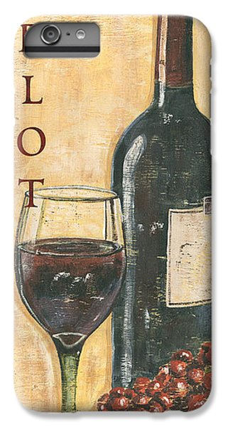 Merlot Wine And Grapes IPhone 6 Plus Case by Debbie DeWitt
