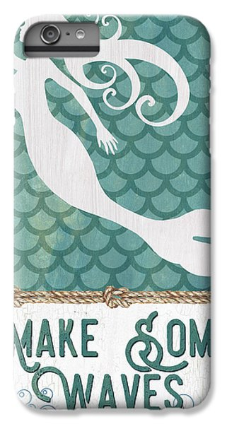 Fairy iPhone 6 Plus Case - Mermaid Waves 1 by Debbie DeWitt