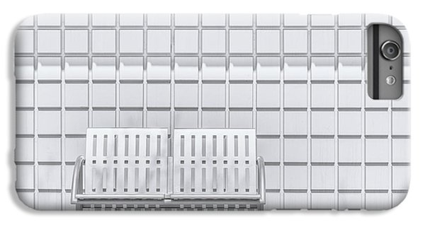 Repeat iPhone 6 Plus Case - Metal Bench Against Concrete Squares by Scott Norris