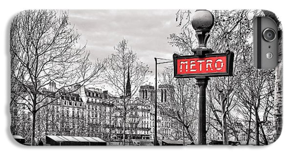 London Tube iPhone 6 Plus Case - Metro Pont Marie by Delphimages Photo Creations