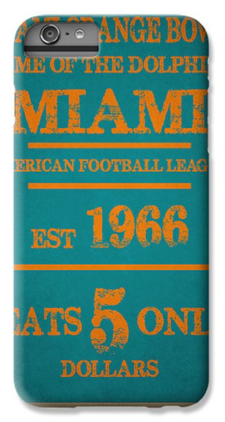 Miami Dolphins Sign IPhone 6 Plus Case