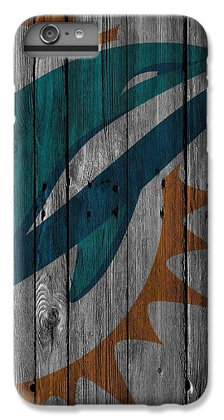 Miami Dolphins Wood Fence IPhone 6 Plus Case