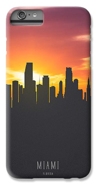 Miami Florida Sunset Skyline 01 IPhone 6 Plus Case by Aged Pixel