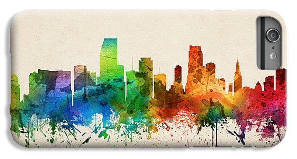 Miami Florida Skyline 05 IPhone 6 Plus Case by Aged Pixel