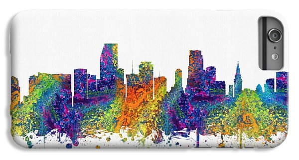 Miami Florida Skyline Color03 IPhone 6 Plus Case by Aged Pixel