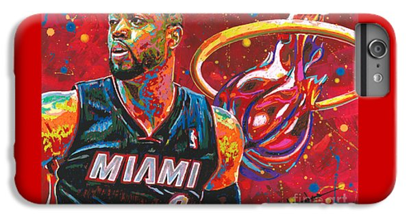 Marquette iPhone 6 Plus Case - Miami Heat Legend by Maria Arango