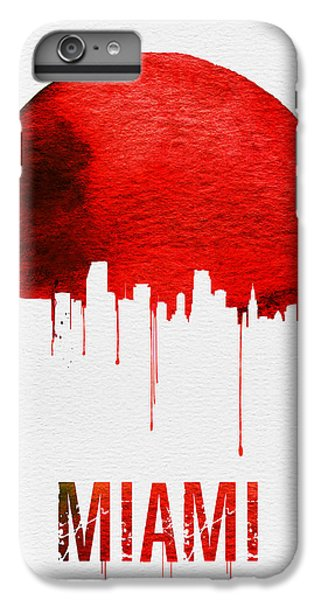 Miami Skyline Red IPhone 6 Plus Case by Naxart Studio
