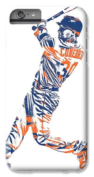 New York Mets iPhone 6 Plus Case - Michael Conforto New York Mets Pixel Art 1 by Joe Hamilton