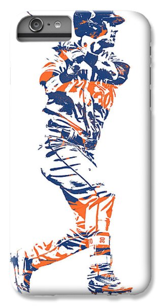 New York Mets iPhone 6 Plus Case - Michael Conforto New York Mets Pixel Art 2 by Joe Hamilton