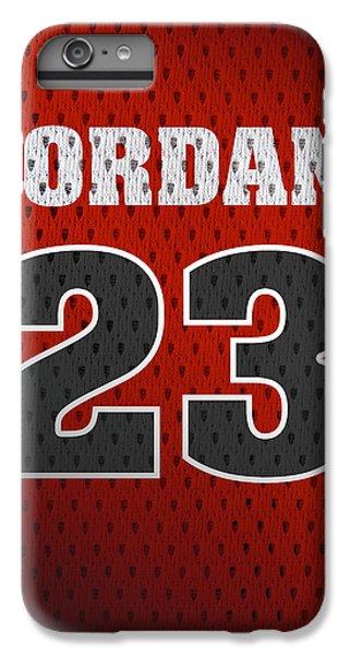 Michael Jordan Chicago Bulls Retro Vintage Jersey Closeup Graphic Design IPhone 6 Plus Case by Design Turnpike