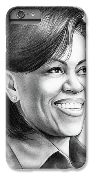 Michelle Obama IPhone 6 Plus Case by Greg Joens