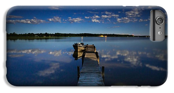 Midnight At Shady Shore On Moose Lake Minnesota IPhone 6 Plus Case by Alex Blondeau