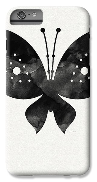 Butterfly iPhone 6 Plus Case - Midnight Butterfly 2- Art By Linda Woods by Linda Woods