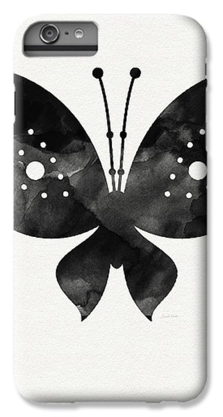 Midnight Butterfly 2- Art By Linda Woods IPhone 6 Plus Case by Linda Woods