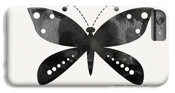 Butterfly iPhone 6 Plus Case - Midnight Butterfly 4- Art By Linda Woods by Linda Woods